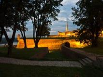 Inside Kalemegdan fortress walls at blue hour, Belgrade Stock Photography