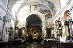 Inside kalwaria. Inside the holy Church of kalwaria zebrzydowska in poland Stock Images