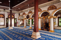 Inside of  Kampung Kling Mosque Royalty Free Stock Image