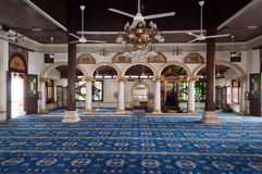 Inside of  Kampung Kling Mosque Stock Images