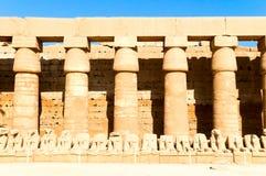 Inside Karnak temple stock photo