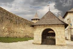 Inside the Khotyn castle Royalty Free Stock Image