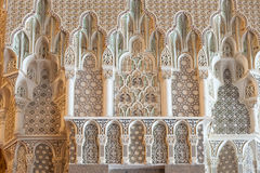King Hassan II Mosque, Casablanca, inside Royalty Free Stock Image