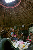 Inside of the Kirghiz shepherd's house - yurt Royalty Free Stock Photo