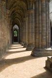Inside Kirkstall Abbey, Leeds, West Yorkshire. Inside Kirkstall Abbey near Leeds, West Yorkshire Stock Images