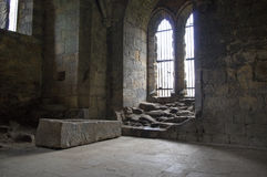 Inside Kirkstall Abbey Royalty Free Stock Images