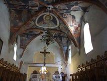 Inside kościół chrześcijański zdjęcia stock