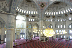Inside of Kocatepe Mosque in Ankara Turkey stock image