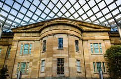 Inside the Kogod Courtyard at the National Portrait Gallery in W Royalty Free Stock Images