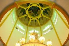 Inside kopuła Kuching Grodzki meczet a K masjid Bandaraya Kuching w Sarawak, Malezja Obraz Stock