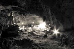 Inside Krasae cave in Thailand Stock Images