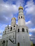 Inside Kremlin. View of Ivan the Great Bell Tower, MOSCOW, RUSSIA royalty free stock photo