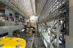Inside Kyoto Station Atrium Horizontal Royalty Free Stock Images