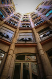 Inside la pedrera barcelona. Antonio Gaudi Stock Photos