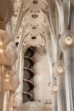 Inside La Sagrada Familia stock photo