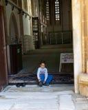Inside the Lala Mustafa Pasha mosque Stock Photography