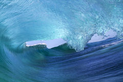 Inside a large breaking wave Royalty Free Stock Images