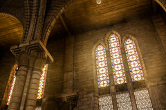 Inside of a large church Royalty Free Stock Images