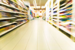 Inside a large supermarket Stock Image