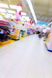 Inside a large supermarket Royalty Free Stock Image