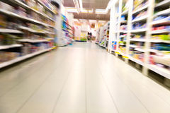 Inside a large supermarket Royalty Free Stock Photo