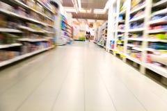 Inside a large supermarket Royalty Free Stock Photo