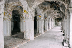 Inside a large temple in Mandalay. stock photos
