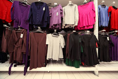 Inside  large women clothing store Stock Image