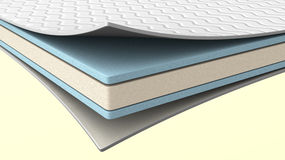 The inside of a latex mattress. Royalty Free Stock Images