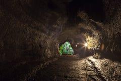Inside the lava tube Stock Photo