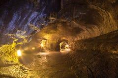Inside the lava tube Royalty Free Stock Photo