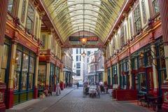 Inside Leadenhall Market on Gracechurch Street in London, England stock images