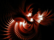 Inside the Leviathan. Swirling fractal shapes giving the appearance of being inside the belly of a beast Stock Photos