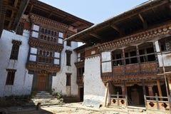 Inside Lhuentse Dzong in Eastern Bhutan - Asia. Inside Lhuentse Dzong monastery in Eastern Bhutan - Asia stock image