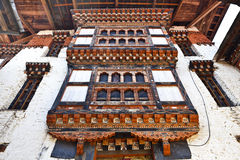 Inside Lhuentse Dzong in Eastern Bhutan - Asia Royalty Free Stock Photos