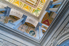Inside the Library of Congress. In Washington DC Stock Photos
