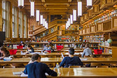 Inside the library of the university of Leuven, Belgium Royalty Free Stock Photos