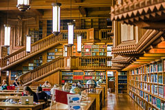 Inside the library of the university of Leuven, Belgium 6 Stock Photo