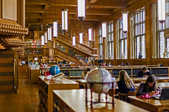 Inside the library of the university of Leuven, Belgium 1 Stock Photo