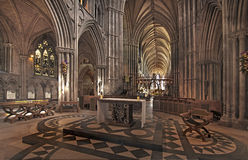 Inside Lichfield Cathedral Stock Image