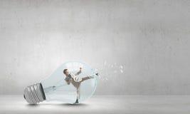 Inside light bulb Royalty Free Stock Image