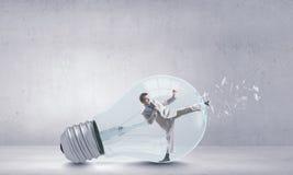 Inside light bulb Stock Images