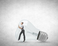 Inside light bulb Royalty Free Stock Images