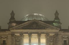 Reichstag building - Reichstagsgebäude at night Royalty Free Stock Images