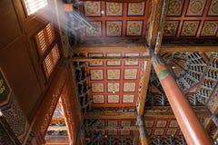 Inside: light streaks shine through window: Beautiful decorated Lamesery, Dazhou Hohhot day Royalty Free Stock Photos