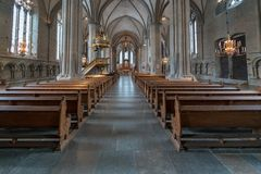 Inside Linköping katedra obraz royalty free