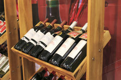 Inside liqueur shop Royalty Free Stock Image