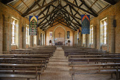 Inside the Livingstonia Mission Church. The Livingstonia Mission Church - Malawi. The mission moved from Cape McClear to Livingstonia Due to Malaria.  It is Royalty Free Stock Images