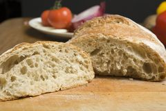 Inside of a loaf Royalty Free Stock Photo