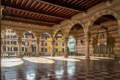 Inside of Loggia Lionello in Udine (City hall) Stock Photos